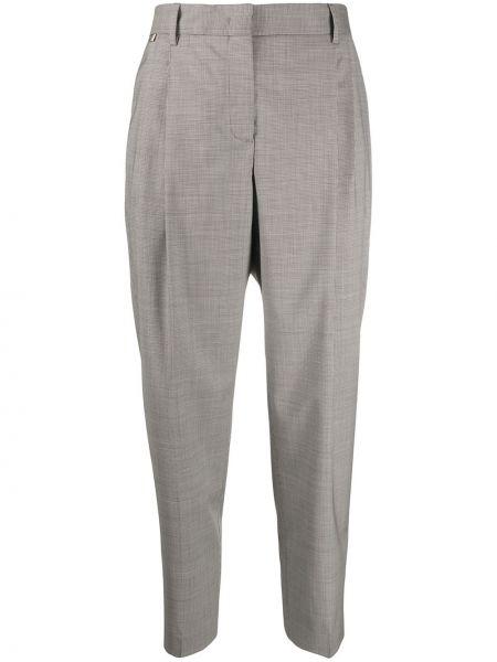 Шерстяные коричневые брюки с карманами Paul Smith