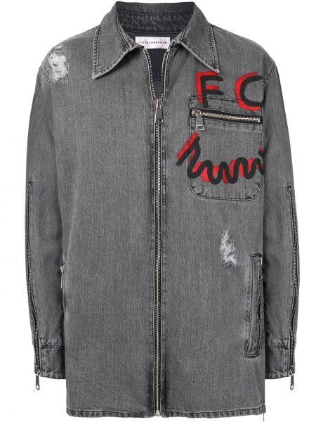 Koszula z długim rękawem dżinsowa prosto Faith Connexion