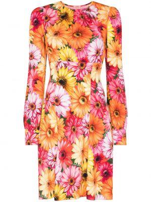 Оранжевое разноцветное платье Dolce & Gabbana
