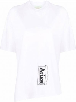 Хлопковая футболка - белая Aries