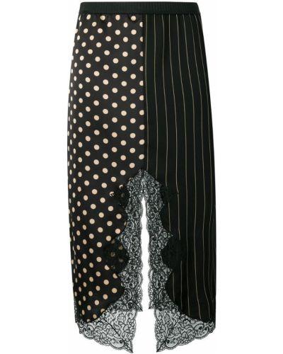 Юбка макси с завышенной талией в горошек Antonio Marras