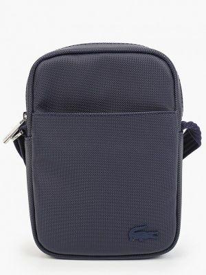 Синяя зимняя сумка Lacoste