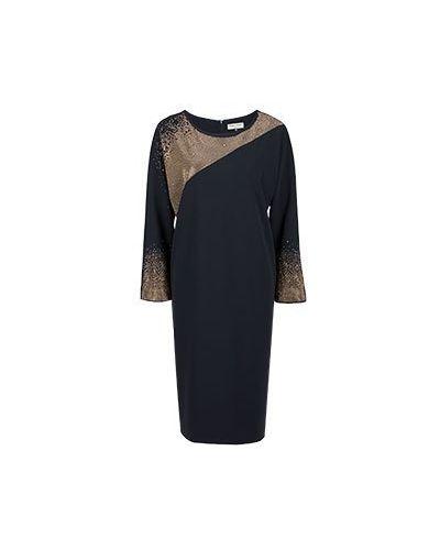 Коктейльное платье кокон золотой Elisa Fanti