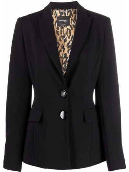 Черный пиджак из полиэстера Blumarine