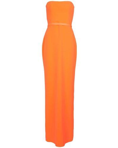 Pomarańczowa satynowa sukienka Alex Perry