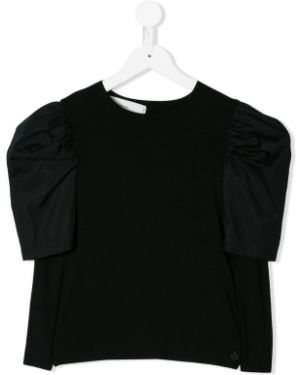 Черная блуза из вискозы Nostra Santissima Kids
