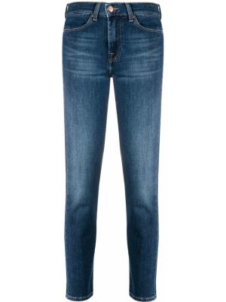 Укороченные джинсы слим фит на пуговицах 7 For All Mankind