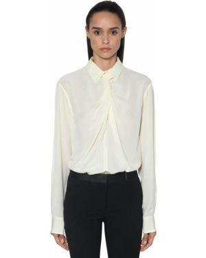 Драповая классическая рубашка с воротником с манжетами Victoria Beckham