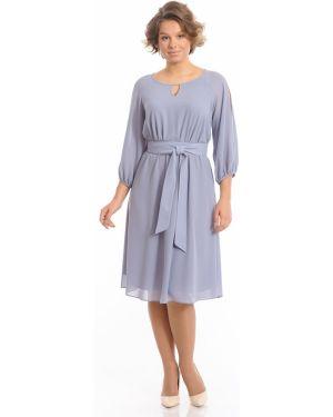 Вечернее платье миди с декольте Merlis