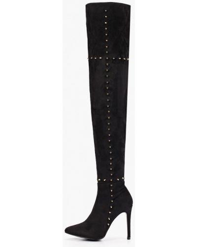Ботинки на каблуке черные осенние Ws Shoes