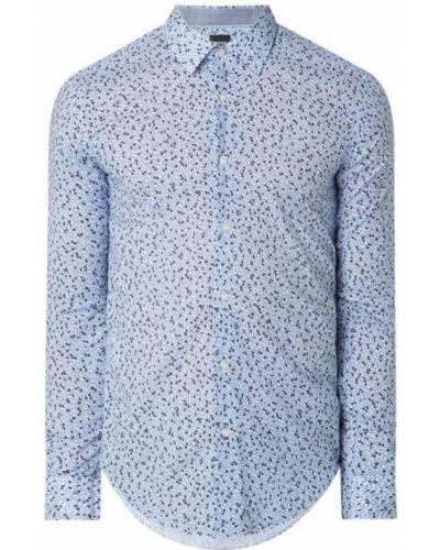 Bawełna niebieski koszula z mankietami z długimi rękawami Boss