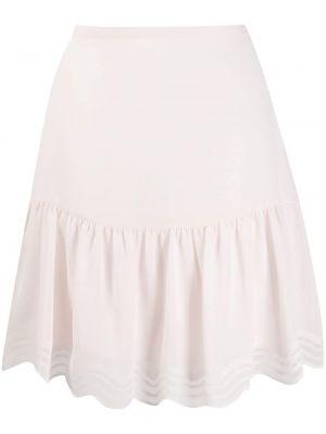 Розовая с завышенной талией юбка мини из вискозы с потайной застежкой See By Chloé