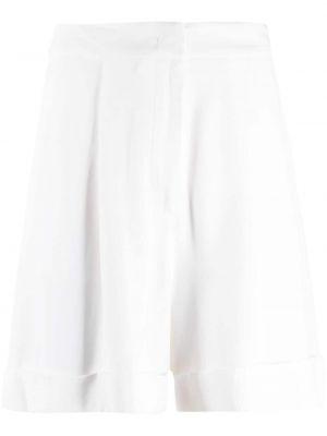 Белые с завышенной талией шорты из вискозы Federica Tosi