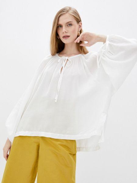 Белая блузка с длинным рукавом Max&co