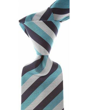 Szary krawat z jedwabiu Borrelli