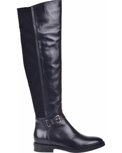 Ботфорты на каблуке кожаные замшевые Le Pepe