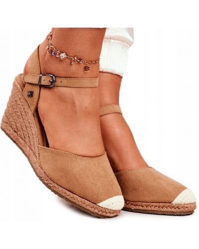 Brązowe sandały skorzane Big Star