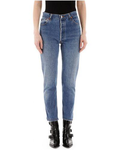 Jeansy z wysokim stanem zapinane na guziki Re/done