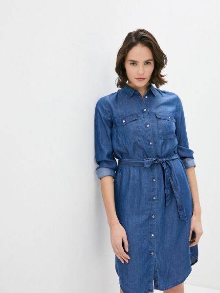 Оливковое джинсовое платье S.oliver