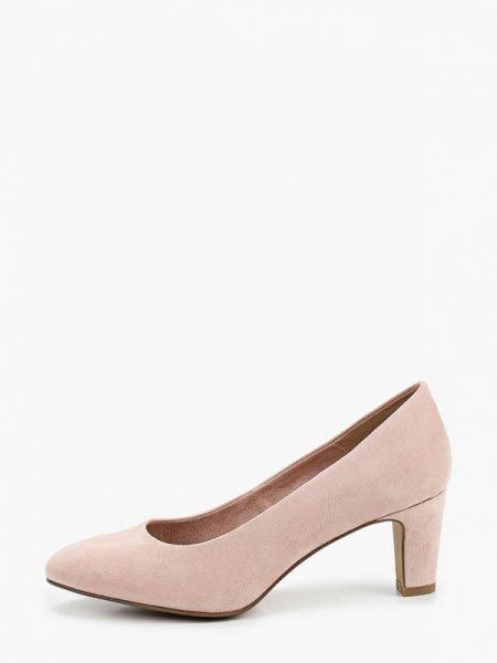 Замшевые туфли розовый закрытые Tamaris
