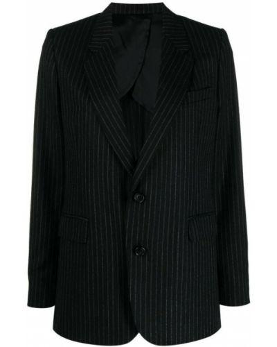 Czarna kurtka w paski Ami Paris