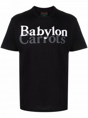 Czarna koszulka bawełniana Carrots
