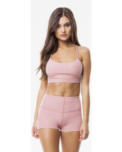 Спортивные шорты с завышенной талией розовый Cardio Bunny