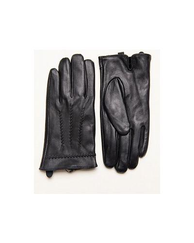 Кожаные черные перчатки каляев