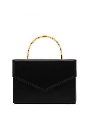 Кожаная черная маленькая сумка Amina Muaddi