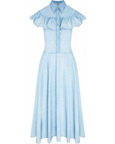 Платье миди джинсовое на пуговицах Miu Miu