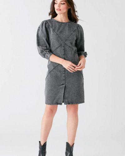 Джинсовое платье - серое Love Republic
