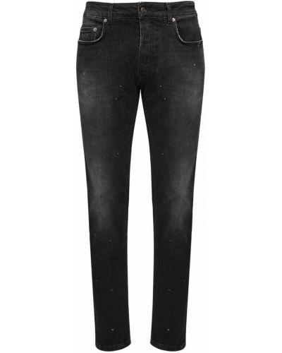 Czarne jeansy bawełniane vintage Htc Los Angeles