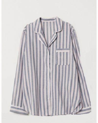 Пижамная пижама с рубашкой с длинными рукавами на пуговицах H&m
