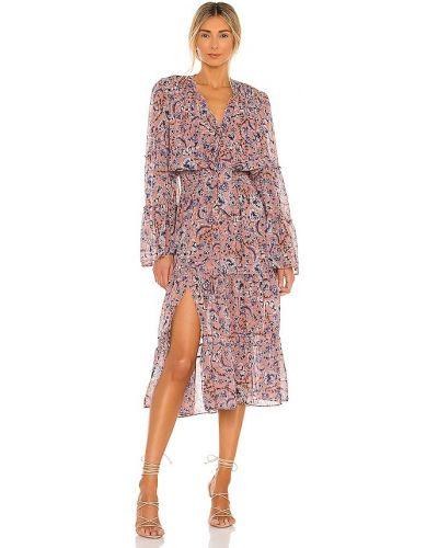 Шифоновое розовое платье с подкладкой Misa Los Angeles
