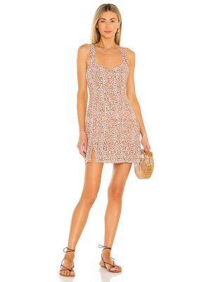 Платье мини бохо в полоску с разрезом Minkpink