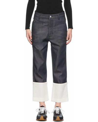 Джинсовые широкие джинсы - белые Loewe