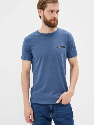 Синяя футболка с короткими рукавами Replay