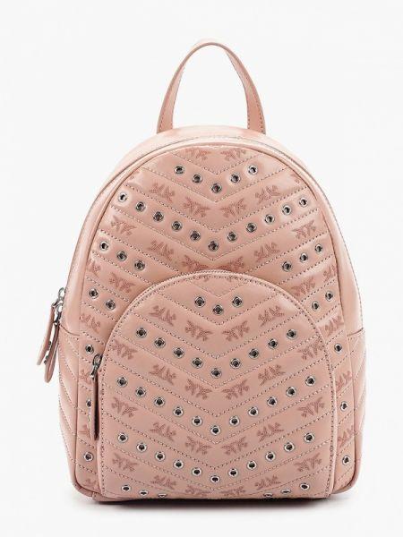 Розовый рюкзак из натуральной кожи Pinko