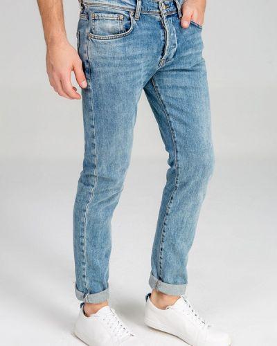 Зауженные джинсы - голубые Ltb