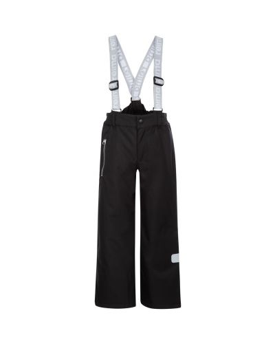 Прямые черные утепленные брюки Reima