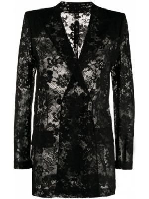 Długa kurtka z kieszeniami czarna Givenchy