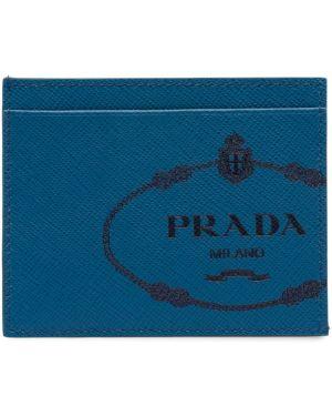 Кошелек кожаный синий Prada