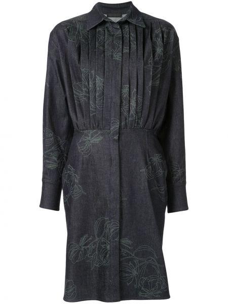 Плиссированное приталенное классическое платье Anteprima