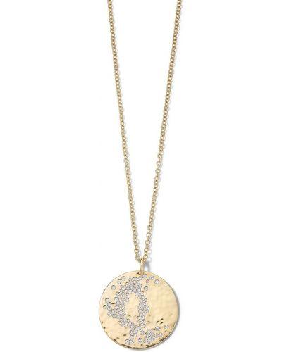 Żółty złoty naszyjnik łańcuch z diamentem Ippolita
