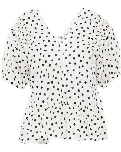 Хлопковая блузка - белая Redvalentino