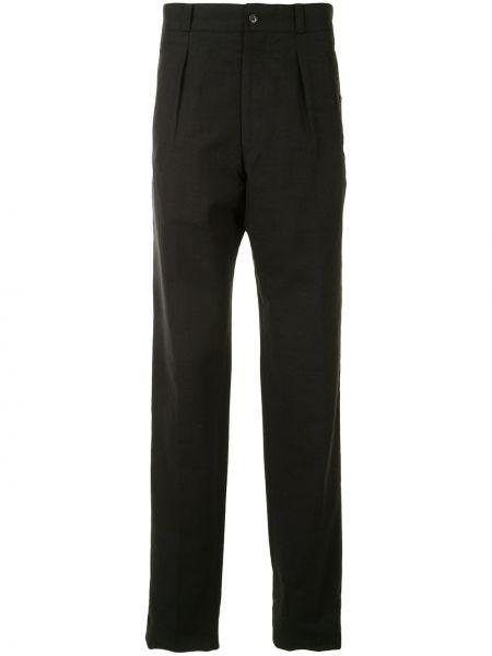 Черные деловые брюки с высокой посадкой с карманами Yohji Yamamoto Pre-owned