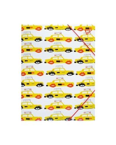 Желтая папка на резинке Yes