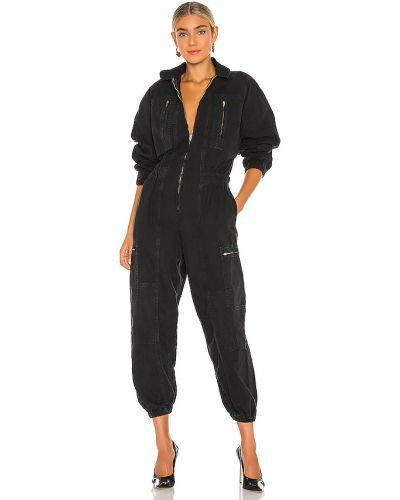 Bawełna światło czarny kostium dżinsowa garnitur Agolde
