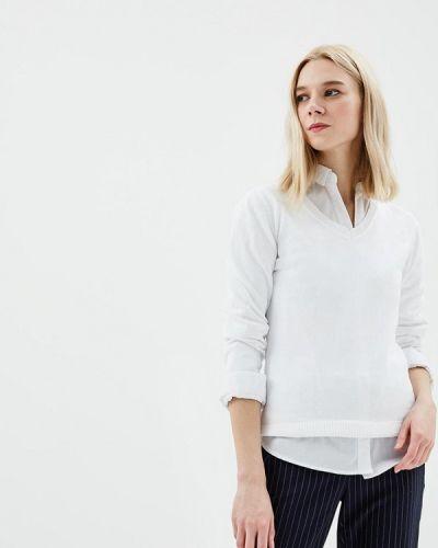 Белый пуловер 2018 Baon