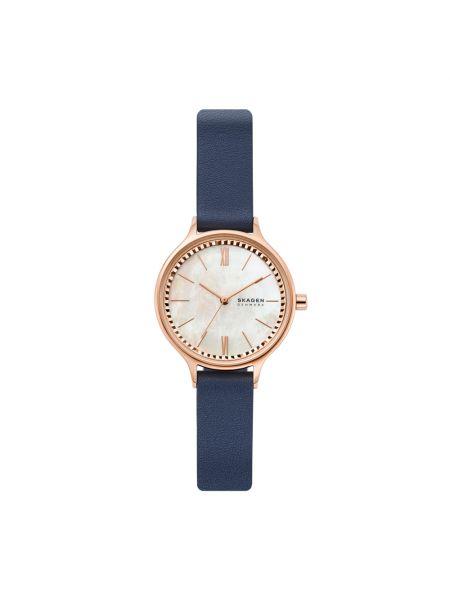 Złoty zegarek granatowy Skagen